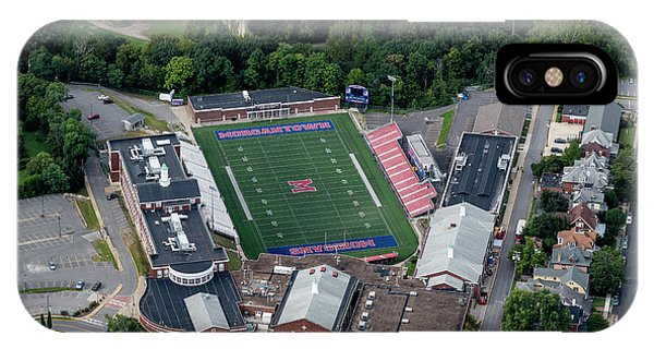 IPhone Case featuring the photograph Aerial Of Mhs Football Field And School by Dan Friend