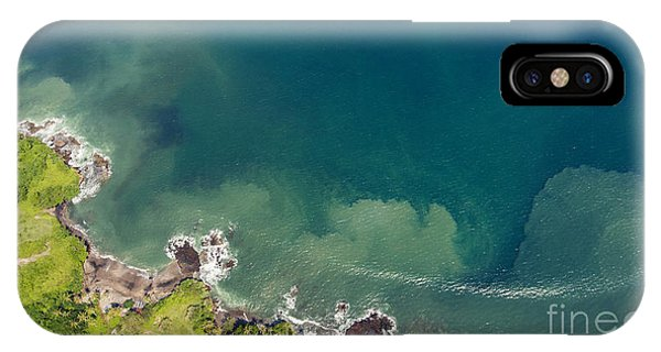 Seashore iPhone Case - Aerial Photo From Flying Drone Of by Gaudilab