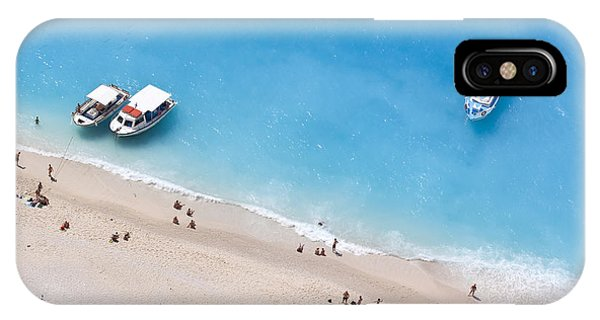 Travel Destination iPhone Case - Aerial View Of A Beach With Some by Creativemarc