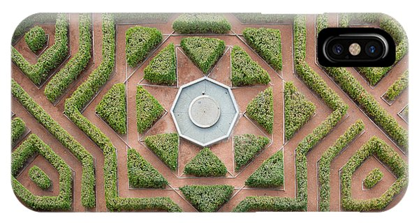 Garden Wall iPhone Case - Aerial View Of A Hedge Maze by Javier Rosano