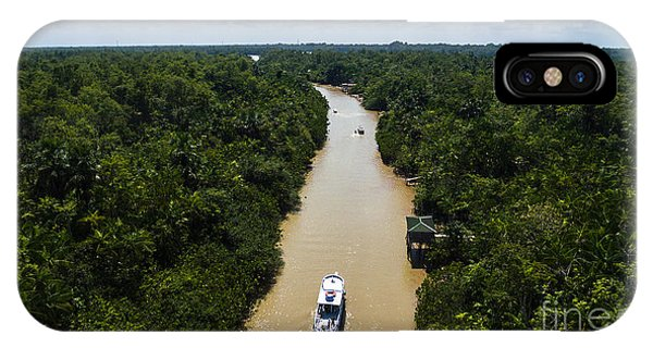 South America iPhone Case - Aerial View Of Amazon River In Belem Do by Esb Professional