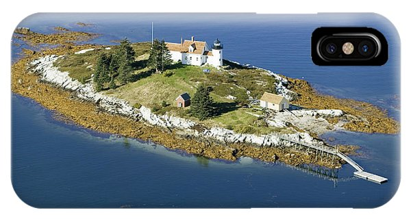 Lighthouse iPhone Case - Aerial View Of An Island And Lighthouse by Joseph Sohm