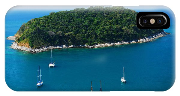 Clear iPhone Case - Aerial View Of Boat Near Phuket Island by Lkunl