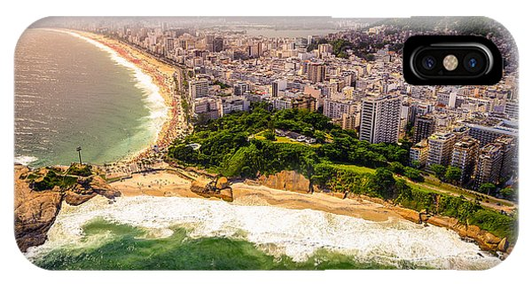 Serenity iPhone Case - Aerial View Of Buildings On The Beach by Celso Diniz
