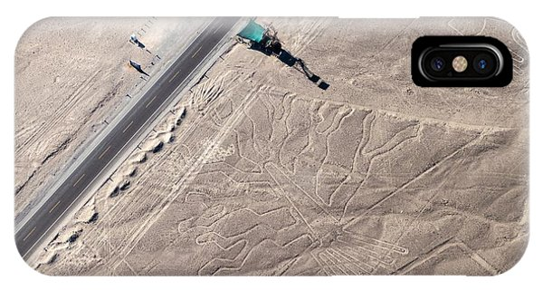 Airplanes iPhone Case - Aerial View Of Geoglyphs Near Nazca - by Matyas Rehak