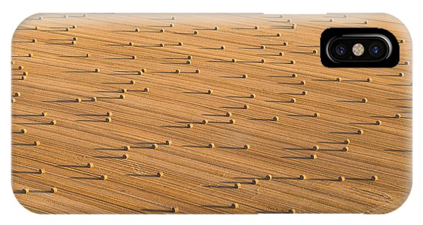 Airplanes iPhone Case - Aerial View Of  Harvest Field by Mariusz Szczygiel