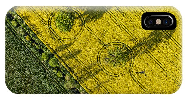 Airplanes iPhone Case - Aerial View Of Harvest Fields In Poland by Mariusz Szczygiel