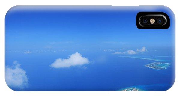 Travel Destination iPhone Case - Aerial View Of Maldives Islands In by Ljupco Smokovski