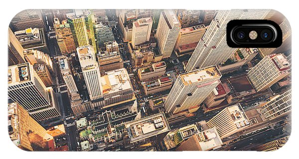 United States iPhone Case - Aerial View Of Midtown Manhattan At by Tierneymj