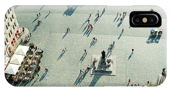 Historic House iPhone Case - Aerial View Of  Neumarkt Square In by Joyfull