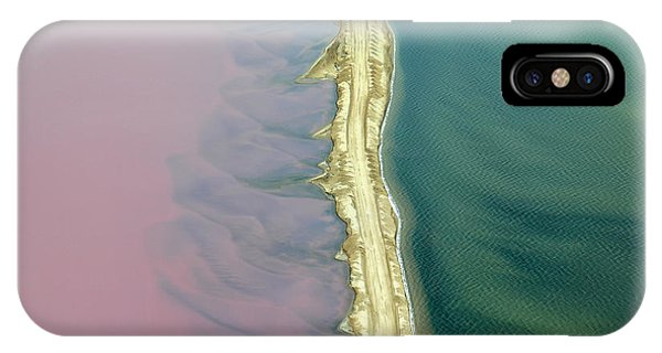 View Point iPhone Case - Aerial View Of Road Between Commercial by Claude Huot