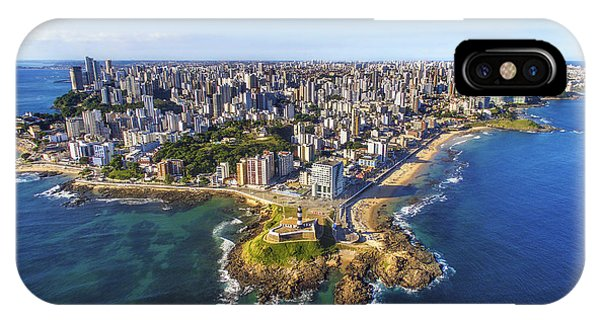 Old Building iPhone Case - Aerial View Of Salvador Da Bahia by R.m. Nunes