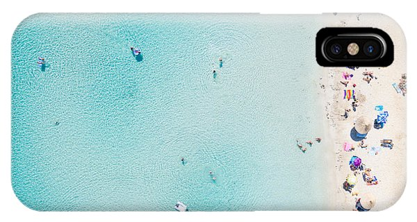 Clear iPhone Case - Aerial View Of Sandy Beach With by Paul Prescott
