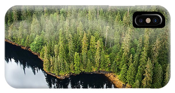 Lush iPhone Case - Aerial View Of The Mist Hanging In The by Lee Prince