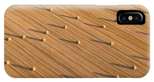 Airplanes iPhone Case - Aerial View Of Tractor On Harvest Field by Mariusz Szczygiel