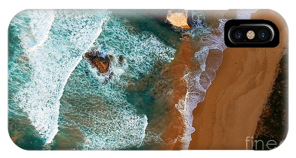 Sandstone iPhone Case - Aerial View Of Twelve Apostles At Dawn by Pisaphotography