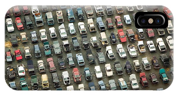 Wreck iPhone Case - Aerial View Of Wrecked Cars In by Joseph Sohm