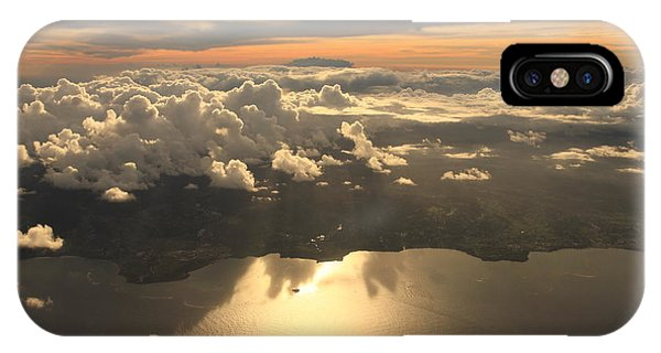 Dusk iPhone Case - Aerial View Sunset Over Antigua In The by Achim Baque