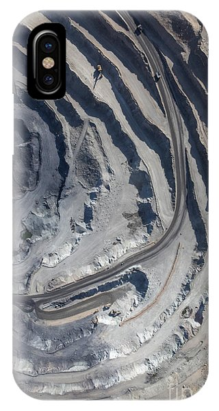 Iron iPhone Case - Aerial View To The Iron Ore Open Mine by M.khebra
