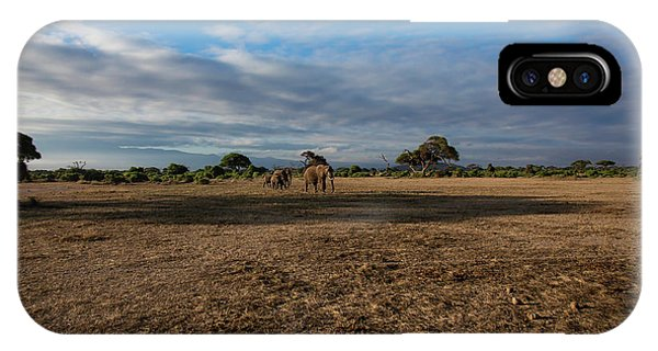 IPhone Case featuring the photograph Amboseli by Thomas Kallmeyer