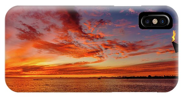 After Sunset Colors At Kailua Bay IPhone Case