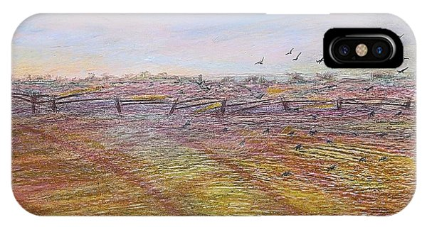 IPhone Case featuring the painting After The Harvest by Norma Duch