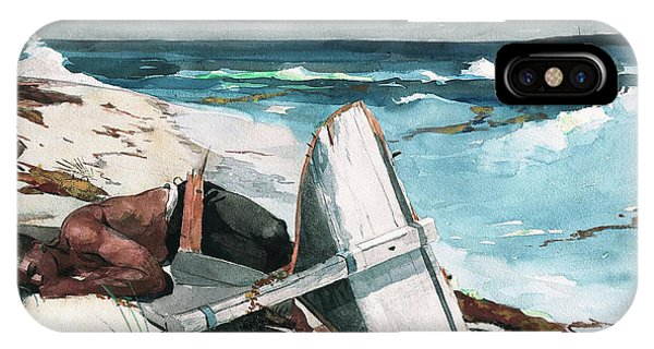 Damage iPhone Case - After The Hurricane, Bahamas - Digital Remastered Edition by Winslow Homer