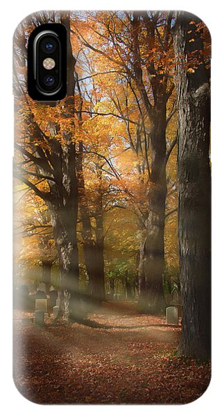 Afternoon Light In Fall Colors Of New England IPhone Case