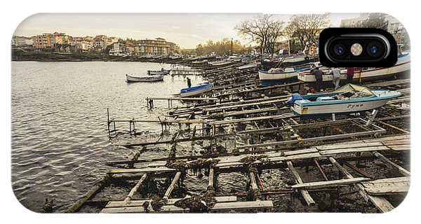 IPhone Case featuring the photograph Ahtopol Fishing Town by Milan Ljubisavljevic