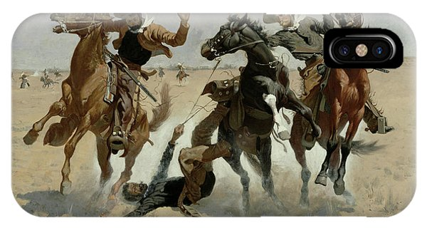 Accident iPhone Case - Aiding A Comrade, Past All Surgery by Frederic Remington