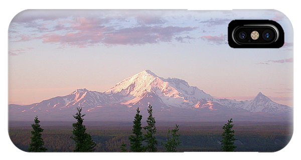 IPhone Case featuring the photograph Alaska Mountain Sunset by Mark Duehmig