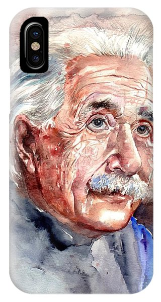 New Jersey iPhone Case - Albert Einstein Portrait by Suzann's Art