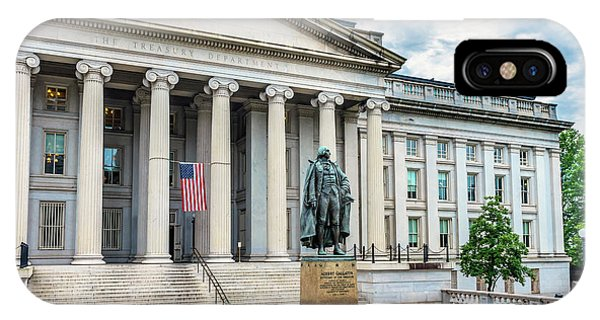 Albert Gallatin Statue, Us Treasury Phone Case by William Perry