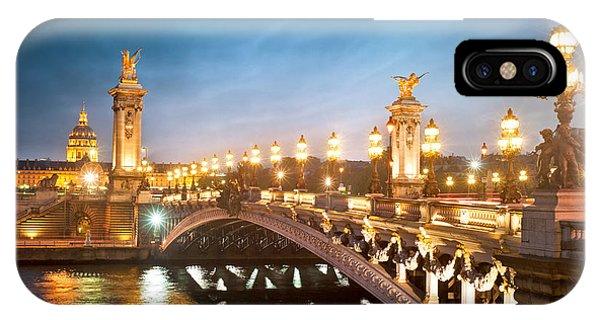 French iPhone Case - Alexandre 3 Bridge - Paris - France by Production Perig