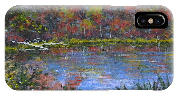 Algonquin Lake Sketch IPhone Case