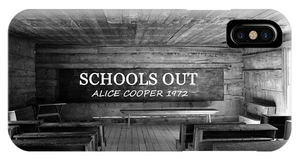 Alice Cooper iPhone Case - Alice Cooper Schools Out by David Lee Thompson