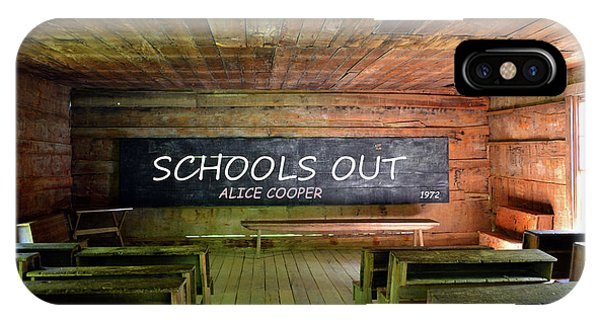 Alice Cooper iPhone Case - Alice Coopers Schools Out 1972 by David Lee Thompson