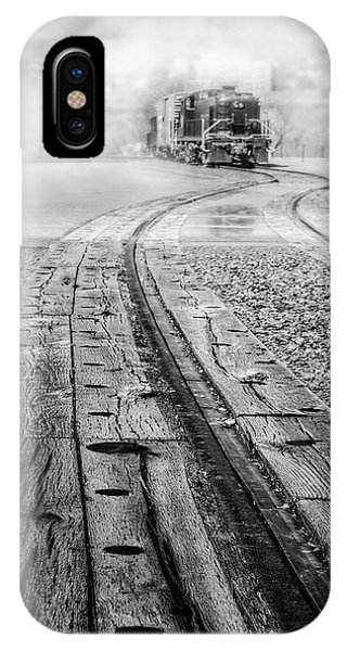 iPhone Case - All Aboard The 467 Reading Train Bw by Susan Candelario
