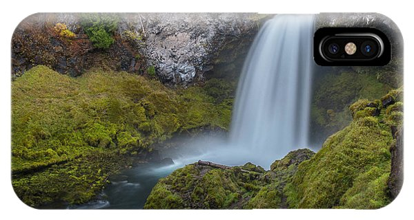 IPhone Case featuring the photograph All Of Sahalie Falls by Matthew Irvin