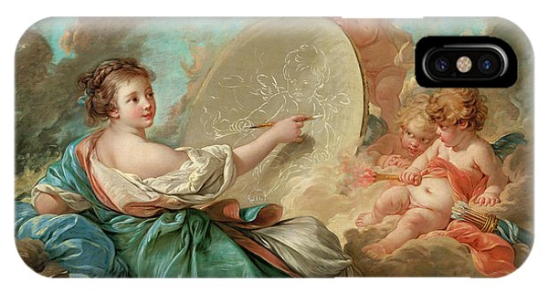 French Painter iPhone Case - Allegory Of Painting By Francois Boucher by Xzendor7