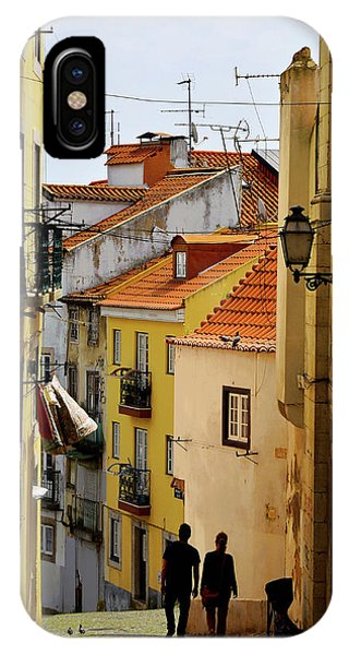 iPhone Case - Alley In Lisbon Portugal by Kathy Yates