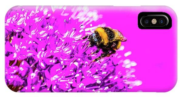 Allium With Bee 2 IPhone Case