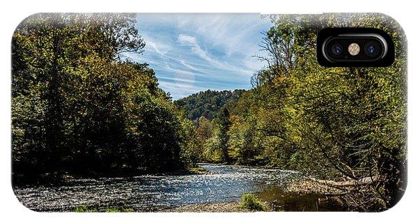 Along Oconaluftee River Trail IPhone Case