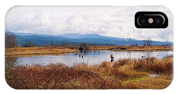 Tidal Marsh iPhone Case - Alouette River Pitt Meadows by Sharon Talson