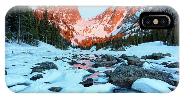 IPhone Case featuring the photograph Alpenglow At Dream Lake Rocky Mountain National Park by Nathan Bush
