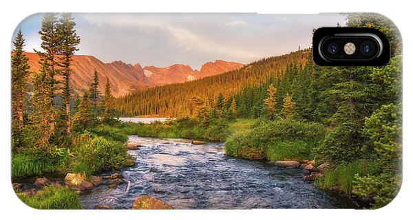 Indian Peaks Wilderness iPhone Case - Alpenglow Creek by Darren White
