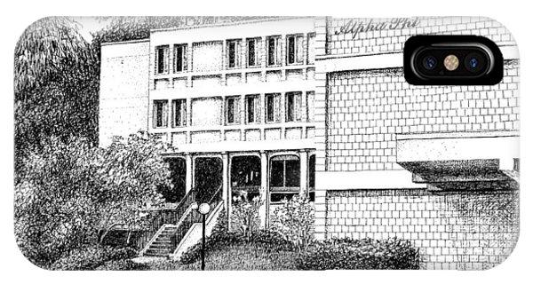 Purdue Boilermakers iPhone Case - Alpha Phi Sorority House, Purdue University, West Lafayette by Stephanie Huber