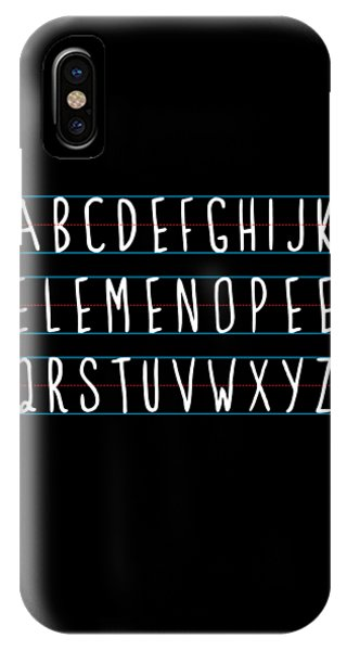 Alphabet Elemeno IPhone Case