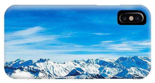 Travel Destination iPhone Case - Alps Mountain Landscape. Winter by Ewa Studio