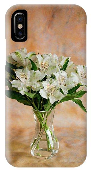 Alstroemeria Bouquet On Canvas IPhone Case
